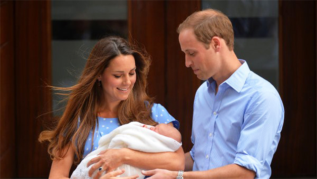 Prince William, Princess Kate and their son George